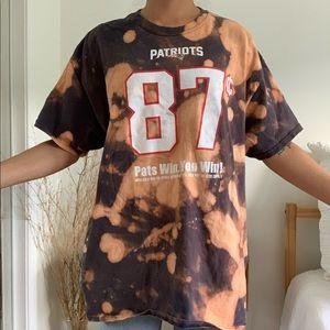 Gildan Tops - Patriots 87 Cents Bleach Tie Dye DD Perks T-Shirt